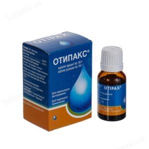 Хранение препарата Отипакс после вскрытия согласно инструкции